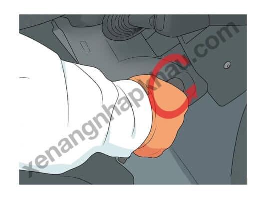hướng dẫn đỗ xe nâng bước 3
